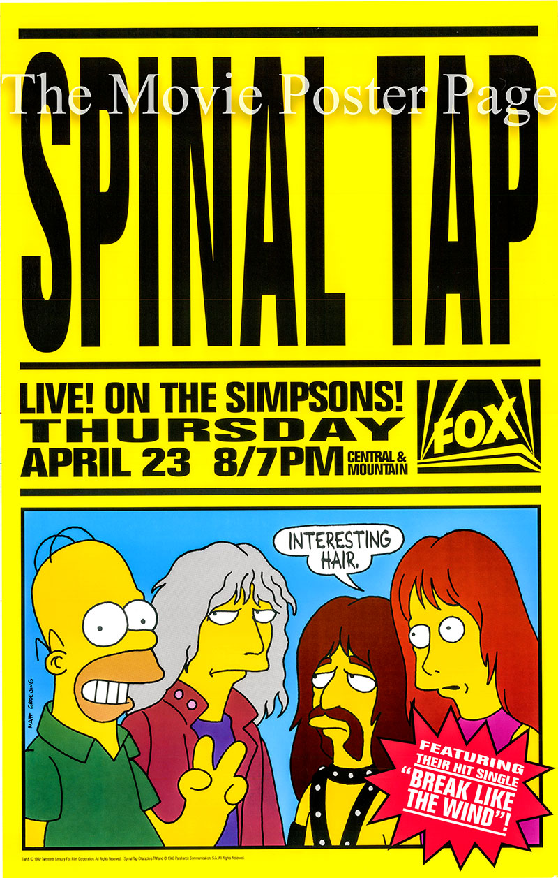 Pictured is a TV poster for The Otto Show, season 3 episode 22 of the 1992 TV series The Simpsons.