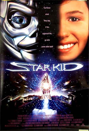 This is a picture of the US one-sheet film poster for the 1996 Manny Coto film <i>Star Kid</i> starring Joseph Mazello.