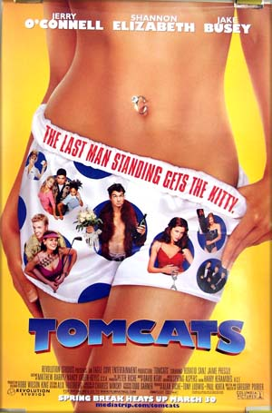This image shows the US one-sheet poster for the 2001 Gregory Poirier film <i>Tomcats</i>.