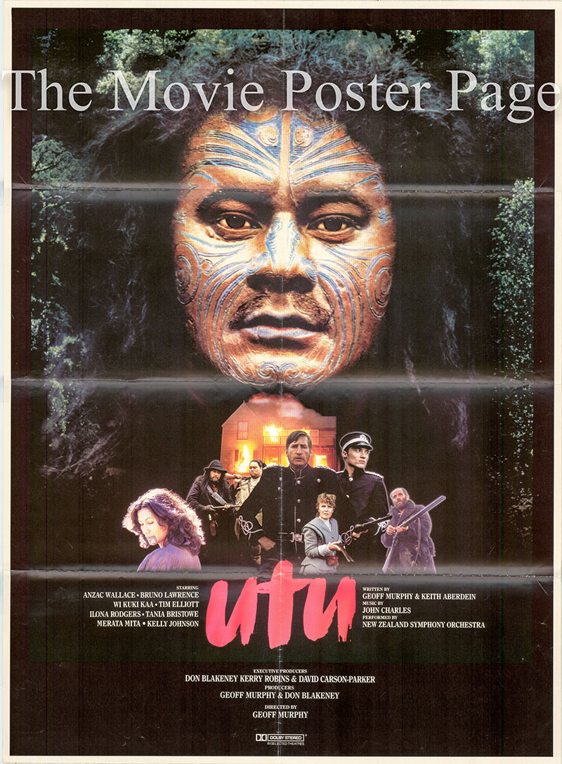 The image shows a US one-sheet poster for the 1983 film UTU directed by Geoff Murphy.