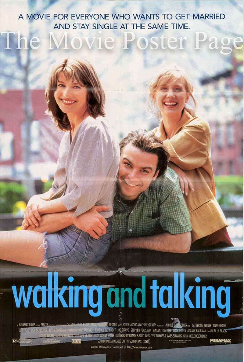 The image shows a US promotional one-sheet poster for the 1996 Nicole Holofcener film Walking and Talking, starring Catherine Keener.