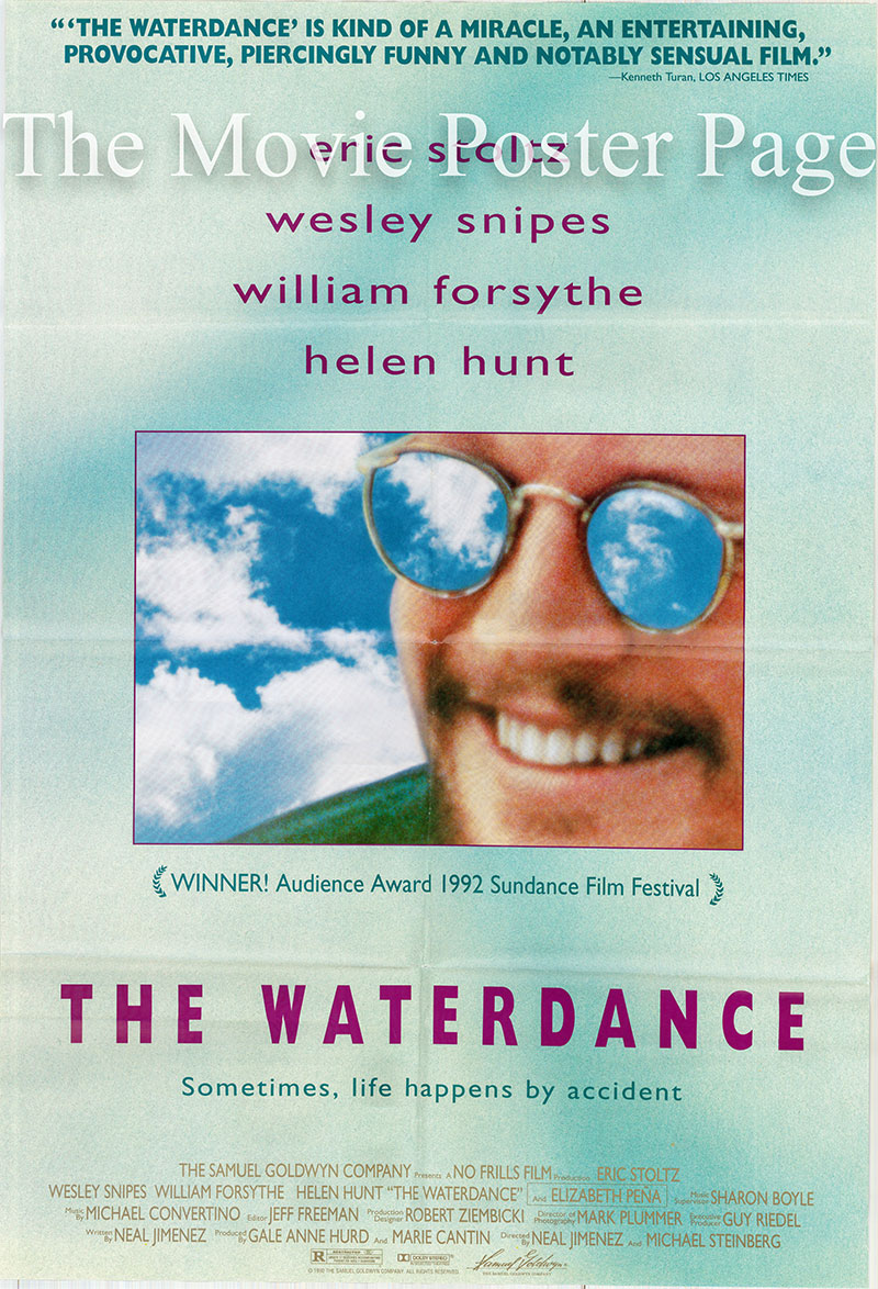 This is a picture of a US promotional one-sheet poster for the 1992 Neal Jimenez film The Waterdance, starring Eric Stolz.
