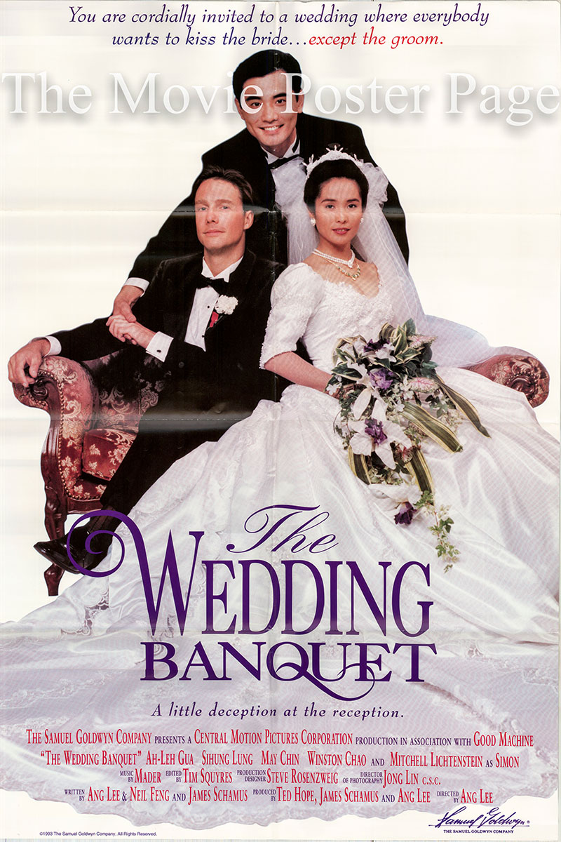 Pictured is a US one-sheet promotional poster for the 1993 Ang Lee film The Wedding Banquet.