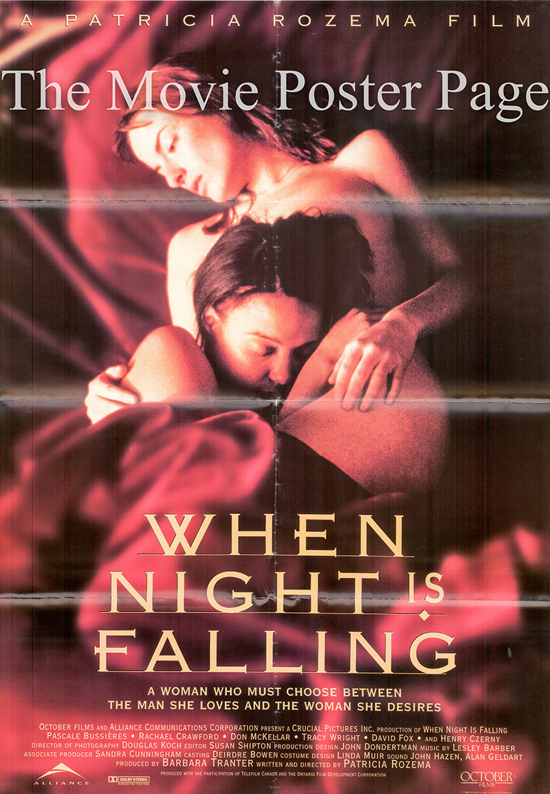 Pictured is a US one-sheet promotional poster for the 1995 Patricia Rozema film When Night is Falling, starring Pascale Bussieres.