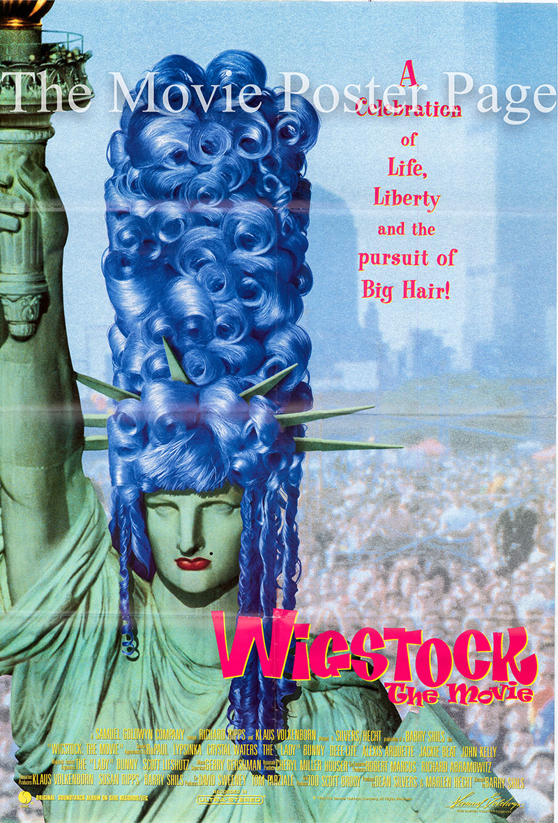 The image shows a US one-sheet promotional film for the 1995 Barry Shils documentary film Wigstock: The Movie, starring Paul Alexander.