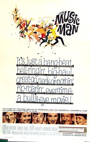 pictured is the US one-sheet promotional poster for the 1962 Morton DaCosta film