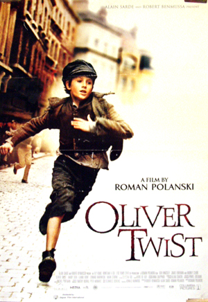 It picture shows the Italian promotional poster for the 2005 Roman Polanski film Oliver Twist, starring Barney Clark as Oliver Twist.