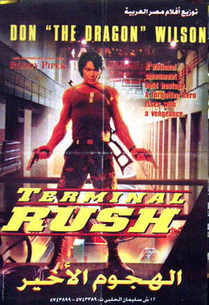 Pictured is the Egyptian promotional poster for the 1995 Damian Lee film Terminal Rush starring Don Wilson.