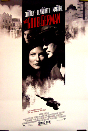 Pictured is the style B one-sheet promotional poster for the 2006 Steven Soderbergh film The Good German, starring George Clooney.
