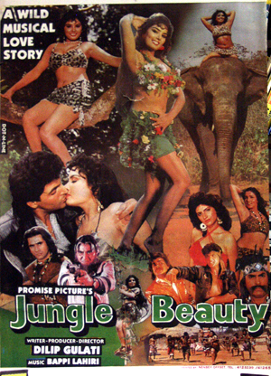 Pictured is the Indian promotional poster for the 1991 Dilip Gulati film Jungle Beauty.