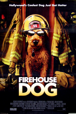 Pictured is the international promotional poster for the 2007 Todd Holland poster Firehouse Dog starring Josh Hutcherson.