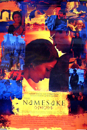 Pictured is the style B international one-sheet promotional poster for the 2006 Mira Nair film The Namesake, starring Irfan Khan.