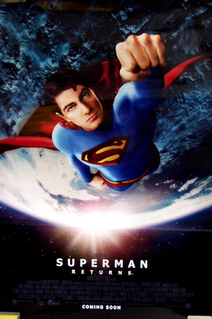 Pictured is the style B US promotional poster for the 2006 Bryan Singer film Superman Returns starring Brandon Routh.