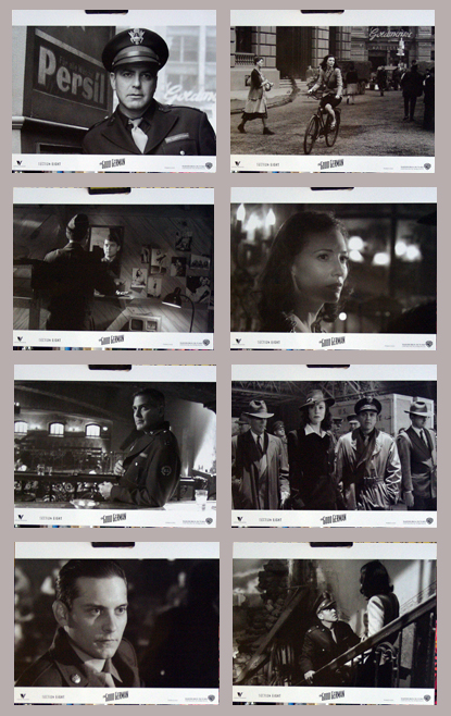 Pictured is the promotional lobby card set for the 2006 Steven Soderbergh film The Good German, starring George Clooney.