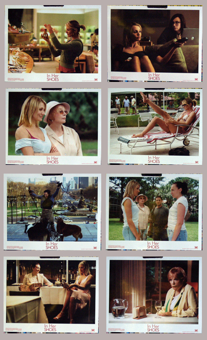 Pictured is the US promotional lobby card set for the 2005 Curtis Hanson film In Her Shoes starring Cameron Diaz.