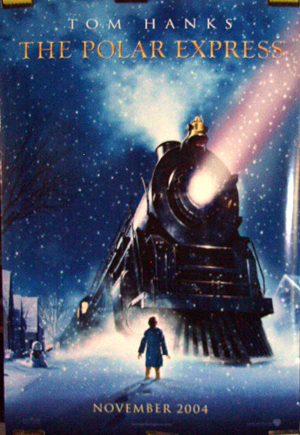 Pictured is the advance US one-sheet promotional poster for the 2004 Robert Zemeckis film The Polar Express, starring Tom Hanks.