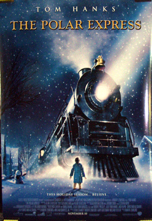 Pictured is the US one-sheet promotional poster for the 2004 Robert Zemeckis film The Polar Express, starring Tom Hanks.