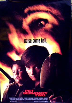 Pictured is the Style A US one-sheet for the 1992 Mary Lambert film Pet Sematary two starring Edward Furlong.