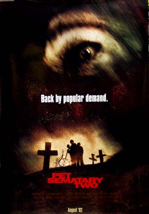 Pictured is the Style B US one-sheet for the 1992 Mary Lambert film Pet Sematary two starring Edward Furlong.