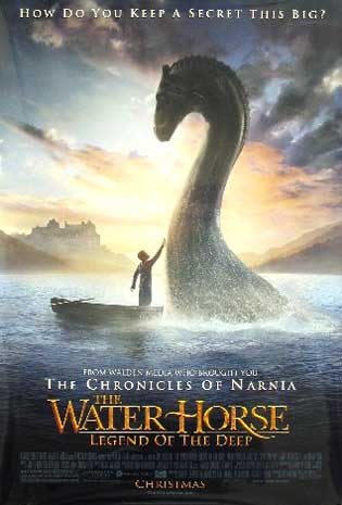 Pictured is the US promotional one-sheet for the 2007 Jay Russell film Water Horse: The Legend of the Deep, starring Emily Watson.