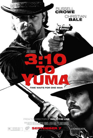 Pictured is the US promotional one-sheet poster for the 2007 James Margold film 3:10 to Yuma starring Russell Crowe and Christian Bale.