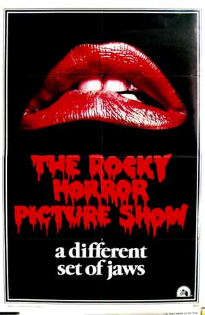 Pictured is the international promotional one-sheet poster for the 1975 Jim Sharman Film The Rocky Horror Picture Show starring Tim Curry.