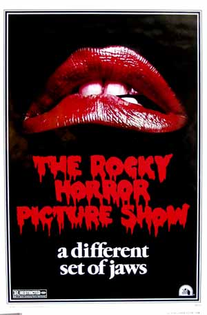 Pictured is the US promotional one-sheet poster for the 1975 Jim Sharman Film The Rocky Horror Picture Show starring Tim Curry.