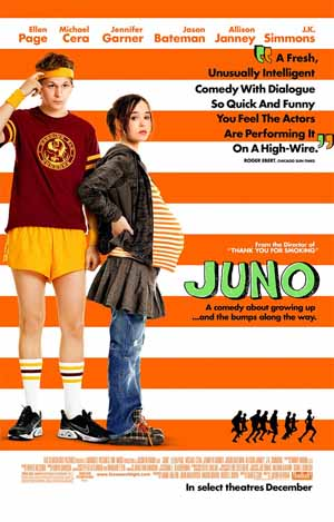 Pictured is the US promotional one-sheet poster for the 2007 Jason Reitman film Juno starring Ellen Page.