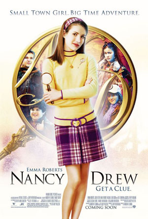 Pictured is the US promotional one-sheet poster for the 2007 Andrew Fleming film Nancy Drew starring Emma Robers.