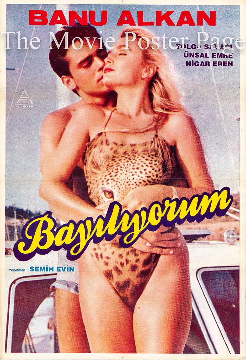 Pictured is a Turkish promotional film poster for the film Bayiliyorum.