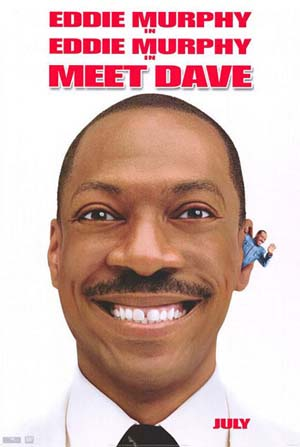 Pictured is the US one-sheet promotional poster for the 2008 Brian Robbins film Meet Dave starring Eddie Murphy.