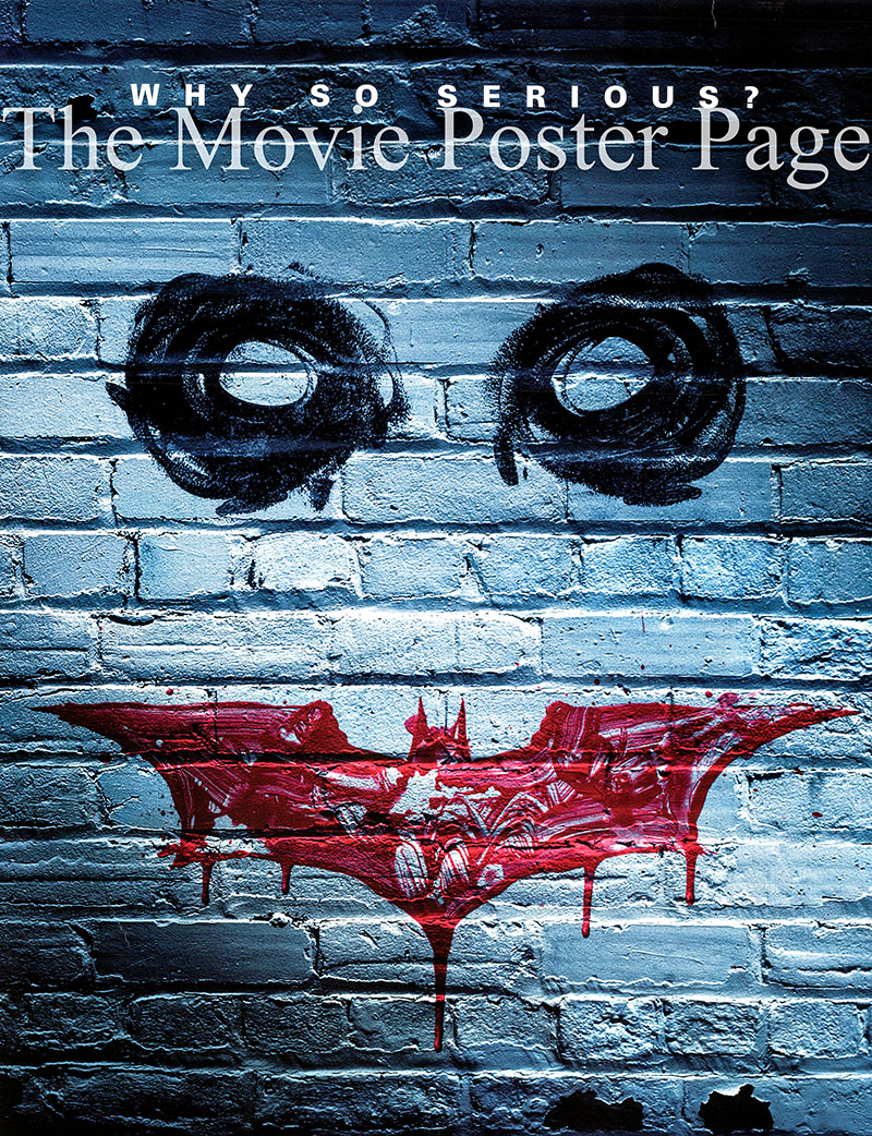 Pictured is the advance grafitti style US one-sheet promotional poster for the 2008 Christopher Nolan film The Dark Knight starring Christian Bale and Heath Ledger.