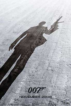 Pictured is a 24x36 reprint of the US advance promotional one-sheet poster for the 2008 Mark Forster film Quantum of Solace starring Daniel Craig.
