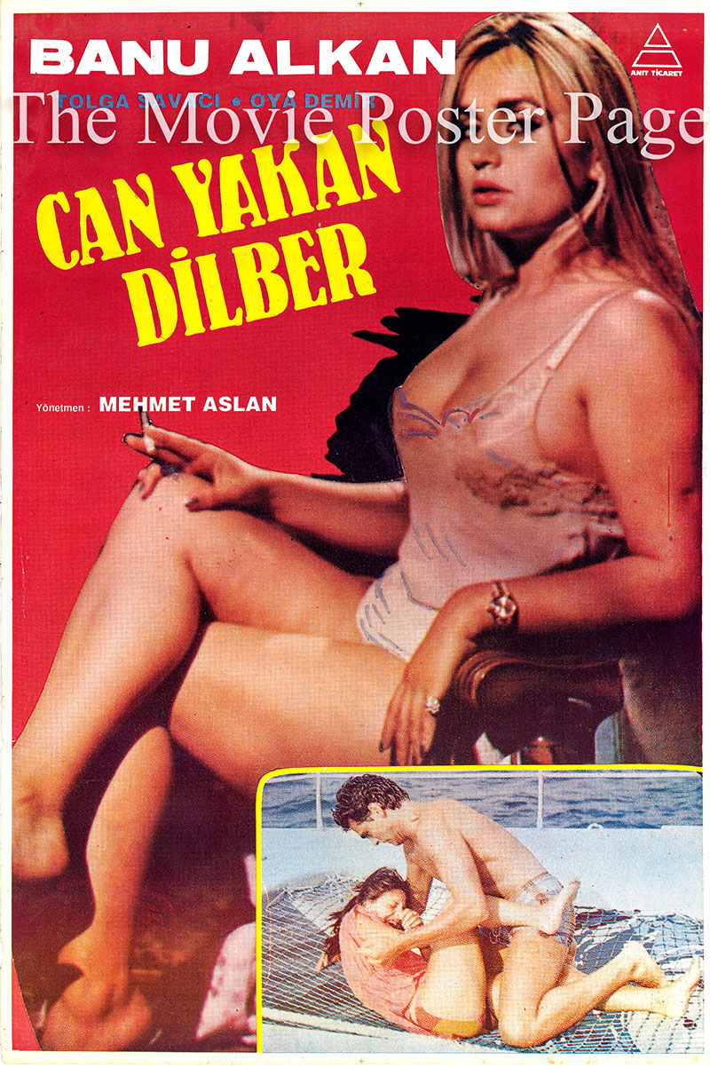 Pictured is a promotional poster for the Mehmet Aslan film Can Yakan Dlber starring Banu Alkan.