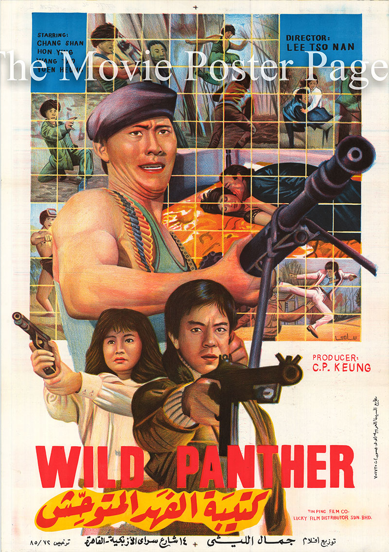 Pictured is the Egyptian promotional poster for the 1984 Tso Nam Lee film Wild Panther starring Hai Lan Chen.