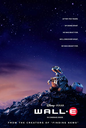 Pictured is an In  Cinemas 2008 advance one-sheet for the 2008 Andrew Stanton film Wall-e, starring Ben Burtt.