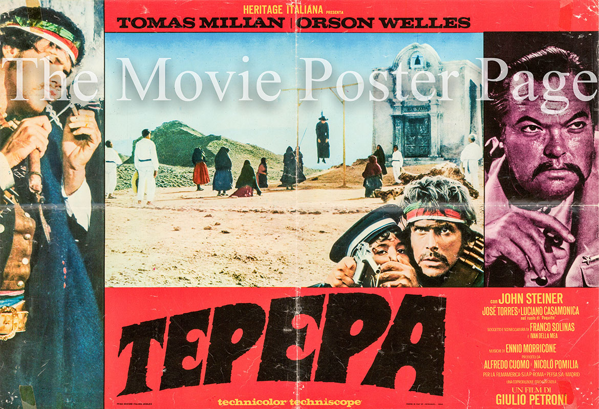 Pictured is an Italian photobusta for the 1968 Giulio Petroni film Tepepa starring Orson Welles.