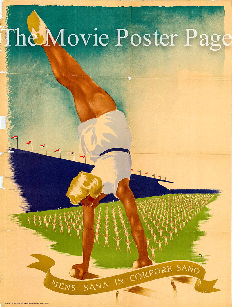 Pictured is a vintage undated Mens Sano in Corpore Sano poster.