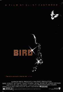 Pictured is a US one-sheet promotional poster for the 1988 Clint Eastwood film Bird starring Forest Whitaker.