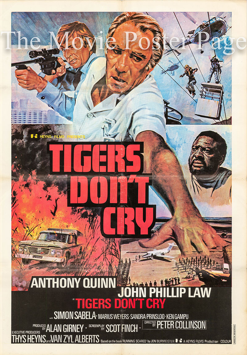 Pictured is an Italian promotional poster for the 1976 Peter Collinson film Target of an Assassin, starring Anthony Quinn.