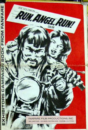Pictured is a US promotional press book for the 1969 Jack Starrett film Run, Angel, Run starring William Smith.