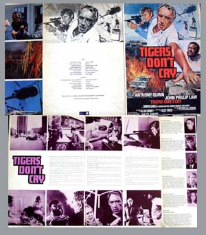 Pictured is a UK promotional program for the 1976 Peter Collinson film Target of an Assassin, starring Anthony Quinn.