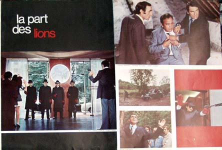 Pictured is a French promotional program for the 1971 Jean Larriaga film The Lions Share starring Robert Hossein and Charles Aznavour.