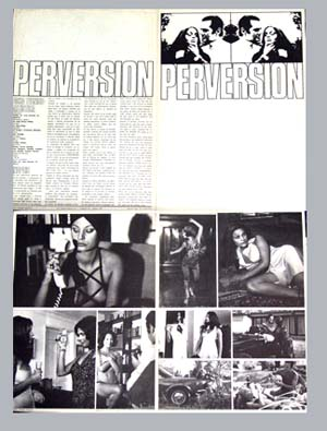 Pictured is a Spanish promotuional program for the 1974 Francisc Lara Polo film Perversion starring Carlos Estrada.