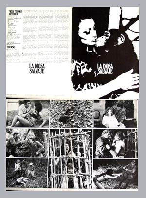 Pictured is a Spanish promotional program for the 1975 Miguel Iglesias film Kilma Queen of the Jungle starring Eva Miller as Kilma.