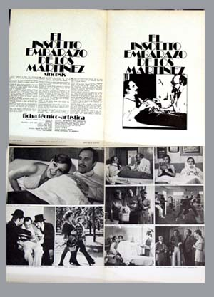 Pictured is a Spanish promotional program for the 1974 Javier Aguirre film The Unusual Martinez Embarassment, starring Jose Sazatorni.