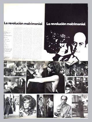 Pictured is a Spanish promotional program for the 1974 Jose Antonio Nieves Conde film The Marriage Revolution starring Analia Gade.