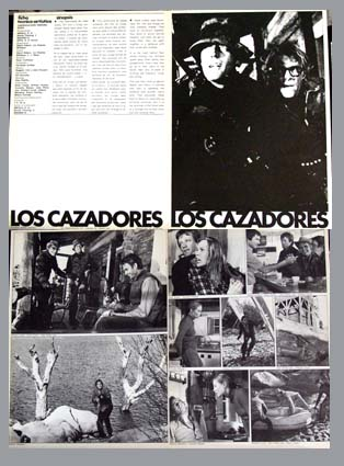 Pictured is a Spanish promotional program for the 1974 Peter Collinson film Open Season starring Peter Fonda.