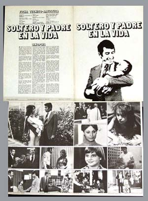 Pictured is a Spanish program for the 1972 Javier Aguirre film Unmarried Father starring Jose Sacristan.