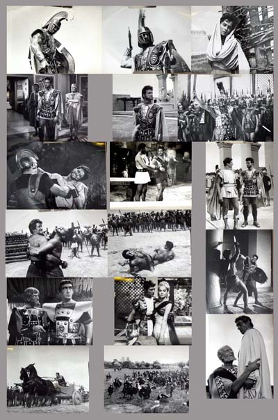 Pictured are 17 promotional black and  white photographs for the 1962 Giorgio Venturini film The Avenger starring Steve Reeves.